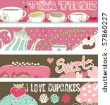Tea And Cupcakes Banners