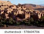 the fortified town or ksar of... | Shutterstock . vector #578604706