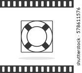 lifebuoy vector icon.   Shutterstock .eps vector #578611576