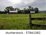 pastoral farm scene with barns... | Shutterstock . vector #57861382