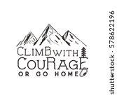 climbing vintage label design.... | Shutterstock .eps vector #578622196