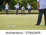 Men Playing Lawn Bowls. Narrow...