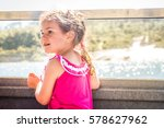young child girl traveling by... | Shutterstock . vector #578627962