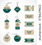 vector stickers  price tag ... | Shutterstock .eps vector #578629822