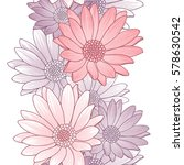 seamless floral pattern with... | Shutterstock .eps vector #578630542