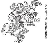 coloring book page for adult... | Shutterstock .eps vector #578630572