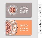 business card templates set... | Shutterstock .eps vector #578634478
