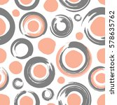 seamless pattern with circles... | Shutterstock .eps vector #578635762