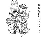 coloring book page for adult... | Shutterstock .eps vector #578635852