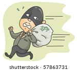 running thief   vector | Shutterstock .eps vector #57863731