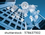 symbol connected with icons of... | Shutterstock . vector #578637502
