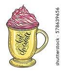 decorative hand drawn doodle... | Shutterstock .eps vector #578639656