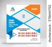promo banner roll up design ... | Shutterstock .eps vector #578644702