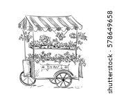 Flower Stall  Florist Cart....