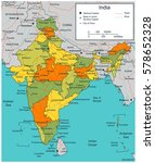 india map with selectable... | Shutterstock .eps vector #578652328