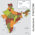india map with selectable... | Shutterstock .eps vector #578652388