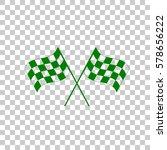 crossed checkered flags logo...   Shutterstock .eps vector #578656222