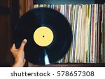 old vinyl record and a... | Shutterstock . vector #578657308
