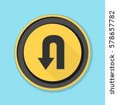 u turn roadsign sign... | Shutterstock .eps vector #578657782