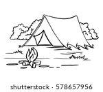 hiking  camping  outdoor... | Shutterstock . vector #578657956