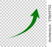 growing arrow sign. dark green...