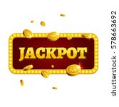 jackpot casino label background ... | Shutterstock .eps vector #578663692