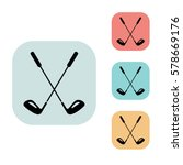 golf clubs icon isolated vector ...