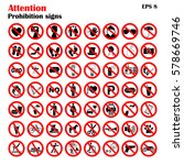 prohibition sign icons... | Shutterstock .eps vector #578669746