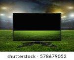 watching smart tv translation... | Shutterstock . vector #578679052