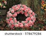 pink sympathy or funeral... | Shutterstock . vector #578679286