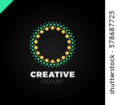 clever and creative  dots or... | Shutterstock .eps vector #578687725