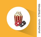 cinema pop corn tickets movie | Shutterstock .eps vector #578689486