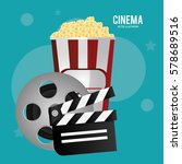 cinema reel film pop corn... | Shutterstock .eps vector #578689516