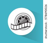 cinema reel film strip movie | Shutterstock .eps vector #578690026