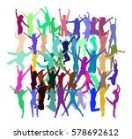 team achievement bright idea  | Shutterstock .eps vector #578692612