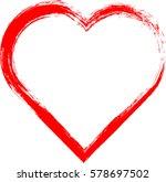 hearts . grunge stamps... | Shutterstock .eps vector #578697502
