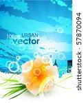 flower urban design | Shutterstock .eps vector #57870094