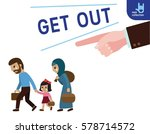 closeup hand finger pointing to ... | Shutterstock .eps vector #578714572