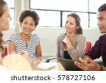 unposed group of creative... | Shutterstock . vector #578727106