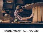 handsome joiner check wood. ... | Shutterstock . vector #578729932