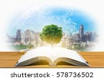 knowledge concept of education... | Shutterstock . vector #578736502