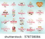 happy valentines day typography ... | Shutterstock .eps vector #578738086