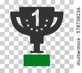 first prize cup icon. vector... | Shutterstock .eps vector #578738236