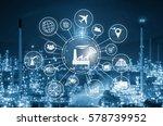 industry 4.0 concept  smart... | Shutterstock . vector #578739952