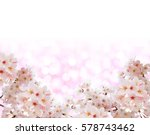 Cherry Blossoms Abstract Pink...