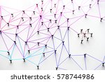 linking entities. networking ... | Shutterstock . vector #578744986