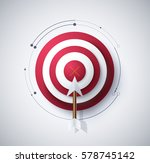 infographic diagram of target... | Shutterstock .eps vector #578745142