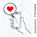 hand drawn vector illustration... | Shutterstock .eps vector #578746696