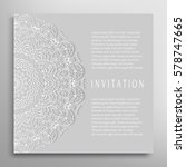 invitation or card template... | Shutterstock .eps vector #578747665