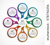 abstract options infographics... | Shutterstock .eps vector #578756356